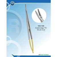 Tungsten Carbide Needle Holder Castroviejo Curved Serrated 18cm