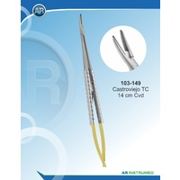 Tungsten Carbide Needle Holder Castroviejo Curved Serrated 14cm