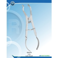 Ivory Rubber Dam Clamp Forceps 17cm