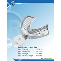 Perforated Rimlock Stainless Steel Impression Lower Small