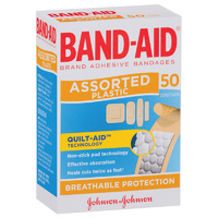 Bandaid Assorted Plastic Shapes (50pk)