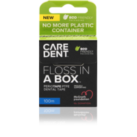 Caredent 10pk Floss In A Box Periotape 100m