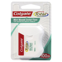 Colgate Total Mint Waxed Dental Floss 100m