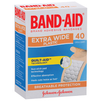 Bandaid Strips Extra Wide (40pk)