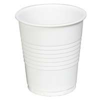 Plastic Drinking Cups 185ml (6oz) White (1,000pcs)