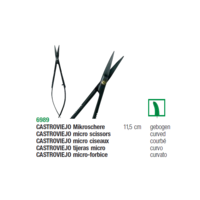 Castroviejo Magicut Surgical Scissors Ceramic Coated 11.5cm Curved