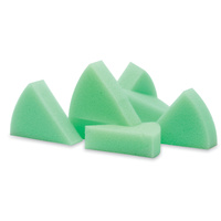 Endo Foam T1: Green coloured triangular foam