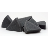 Endo Foam T2: Grey coloured triangular foam