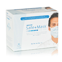 SAFE+ Face Mask with Tie-On BLUE (50pk)
