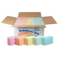 Dental Bibs 3 Ply 33 x 45.5cm 500pcs - RAINBOW