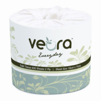 VEORA 22003 Everyday Toilet Tissue 2 Ply 400 Sheets (48/Ctn)