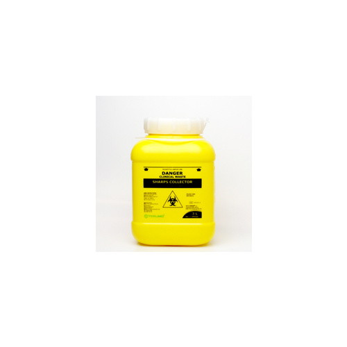 Sharps Container Bin Screw Lid - 3L