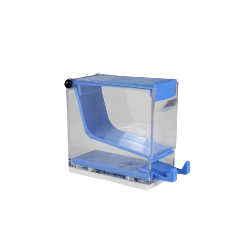 Cotton Roll Dispenser, Press Type - Blue