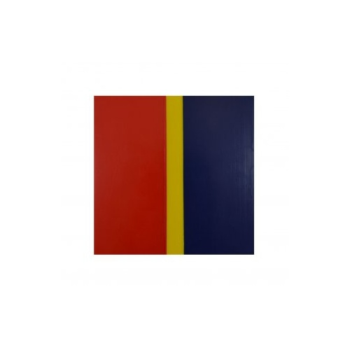 Briteguard Mouthguard Blanks (127mm Square) - 3 COLOUR [Colour: Dark Blue/Yellow/Red] [Thickness: 4mm] [AFL Team: Adelaide Crows] 10PACK