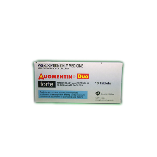 Augmentin Duo Forte Tab 875mg 10pk