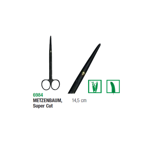 Metzenbaum Magicut Surgical Scissors Ceramic Coated 14.5cm Curved