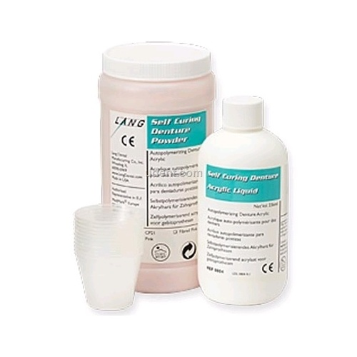 LANG Self-Cure Denture Acrylic Kit 1Lb - Fibred Pink #0834